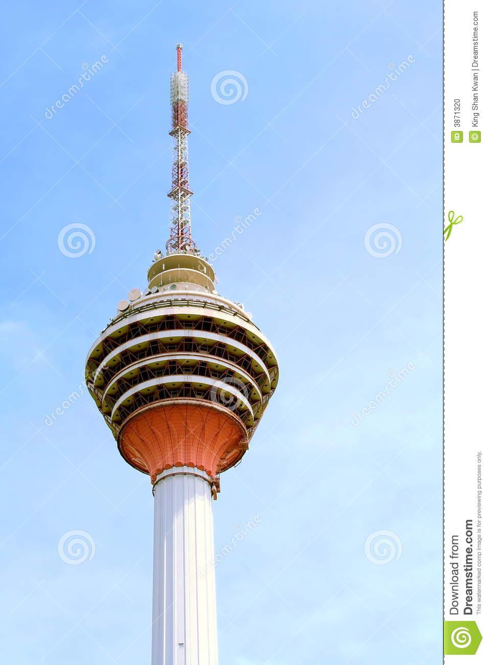 Kuala Lumpur Tv Tower Stock Photo.
