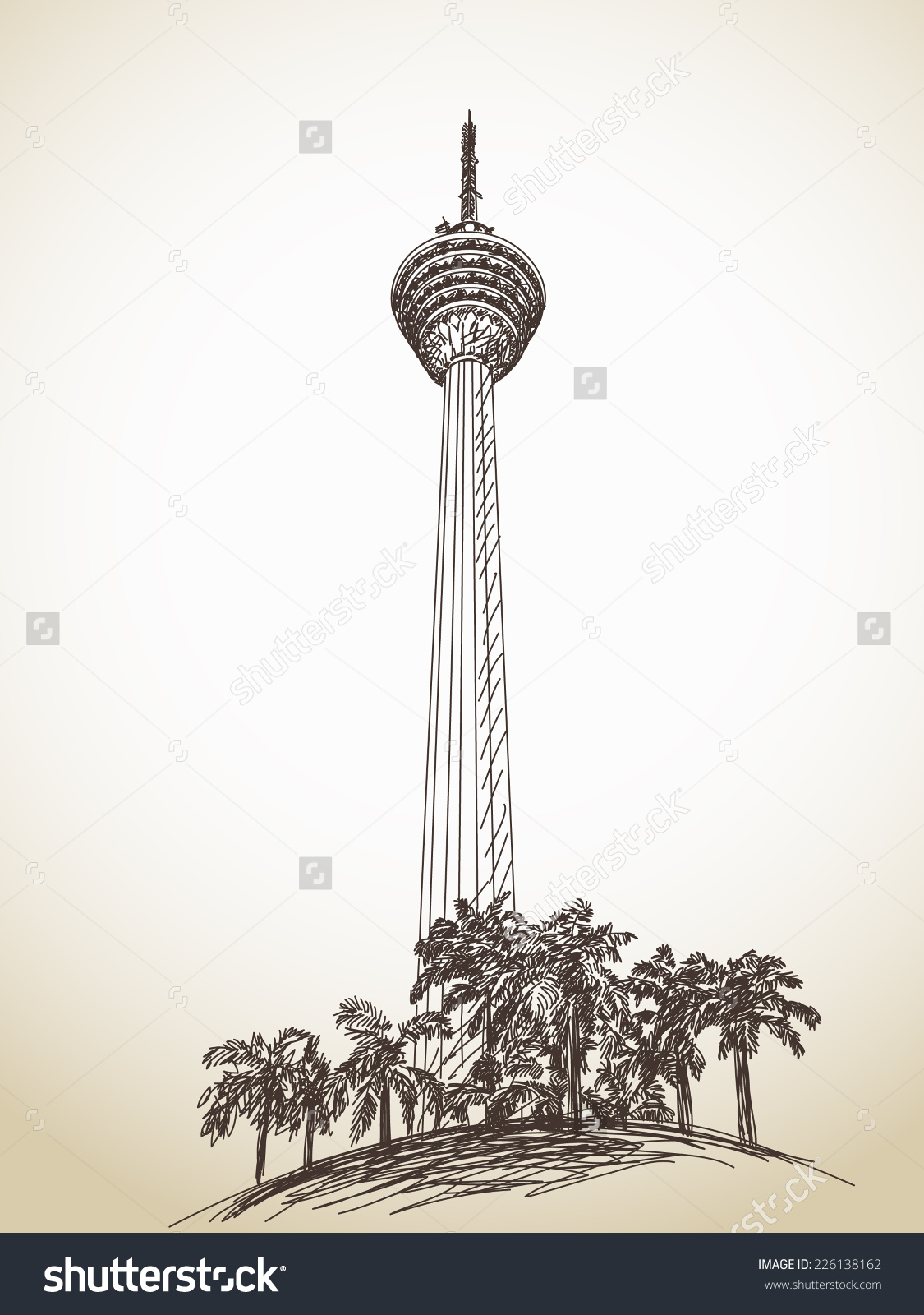 Kl tower clipart.