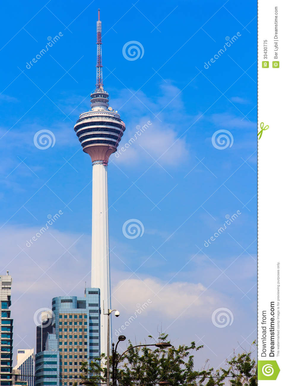 KL Tower Royalty Free Stock Photo.
