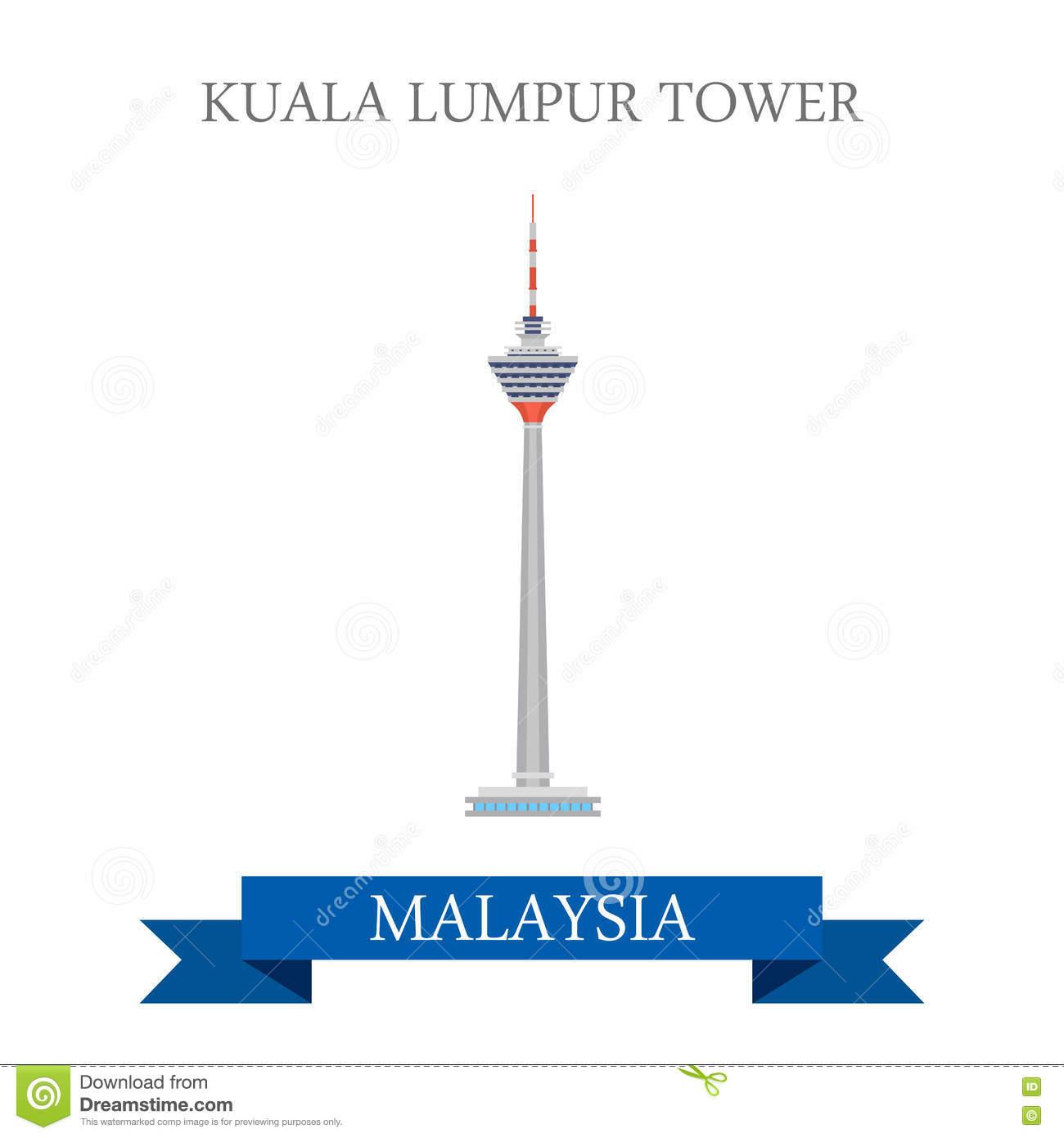 Kuala Lumpur Tower Malaysia Attraction Travel Landmark Stock.