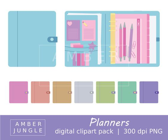 Planner Clipart.
