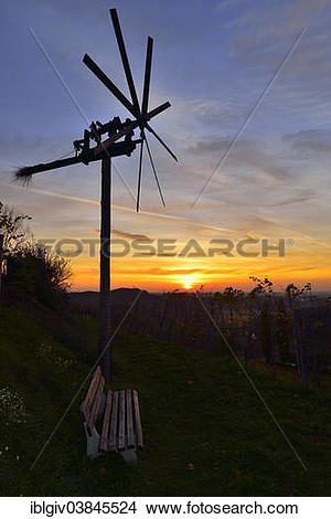 """Stock Photo of """"The Klapotetz, the South Styrian variant of a."""