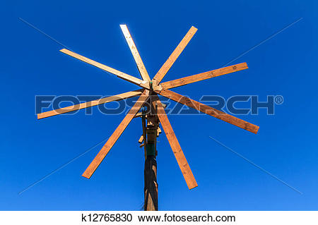 Stock Photography of Wooden windmill (Klapotetz), Styria, Austria.