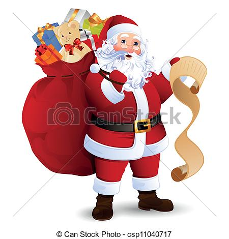 Vector Clip Art of Vector Santa Claus.