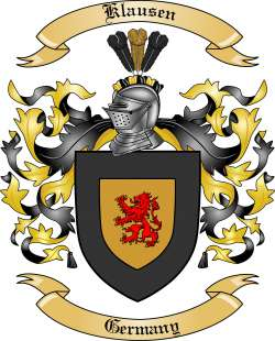 Klausen Family Crest from Germany by The Tree Maker.