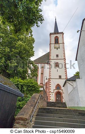 Stock Photography of church in the city of Klausen.