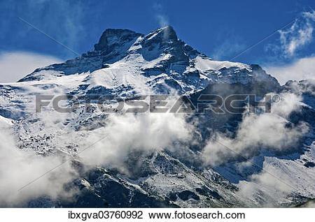"Stock Photo of ""Gross Schaerhorn peak seen from the Klausen Pass."