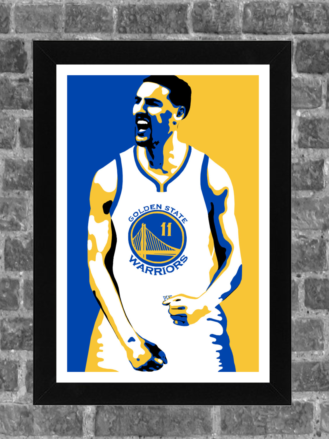Golden State Warriors Klay Thompson Portrait Sports Print Art.