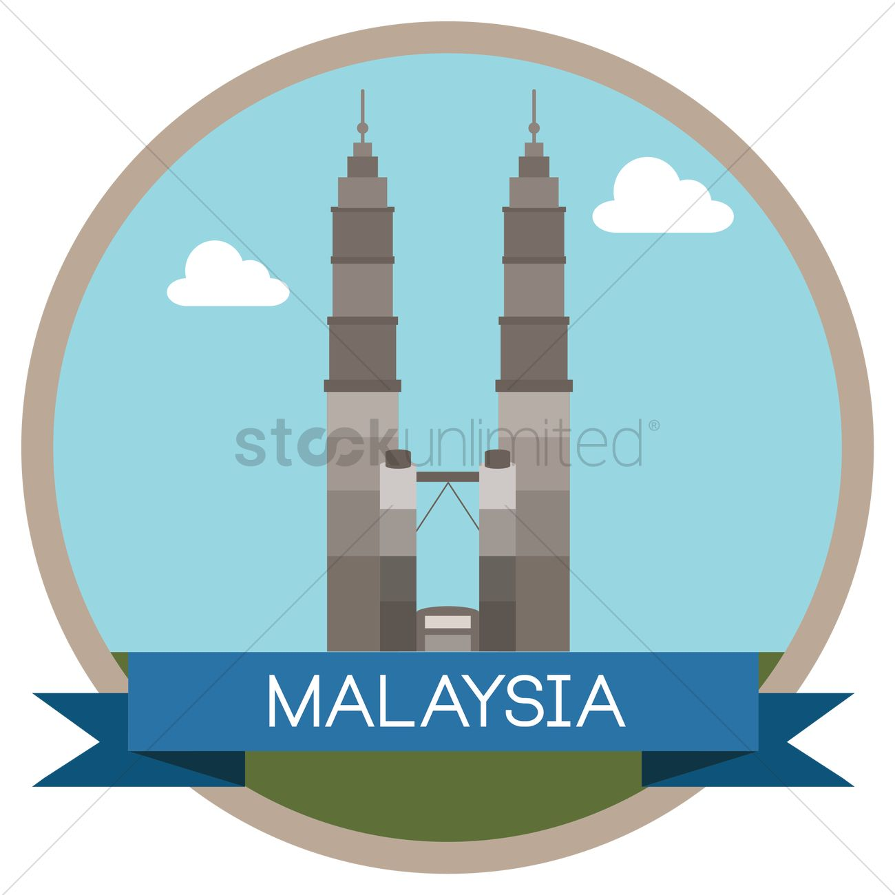 Free Petronas twin towers Vector Image.