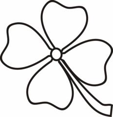 4 Blättriges Kleeblatt Clipart.