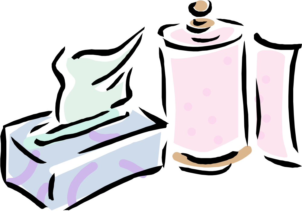 Clipart of kleenex box.