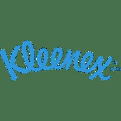 Kleenex Logo Blue transparent PNG.