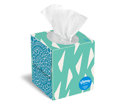 Kleenex® Trusted Care® Facial Tissue Boxes and On.