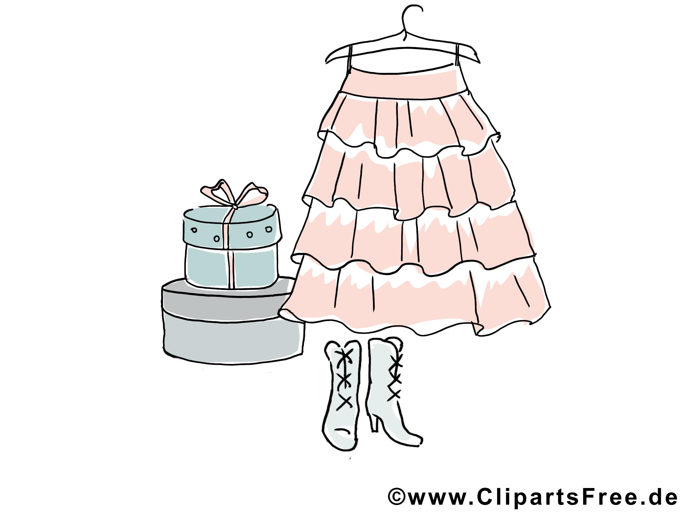 Rock Kleidung Clipart.