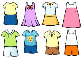 Clothes for Children Stock Vector.
