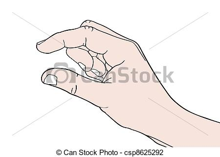Vector Illustration of hand sign small isolated csp8625292.