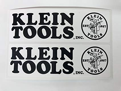 2 Klein Tools & Logo Decals by SBDdecals.com.