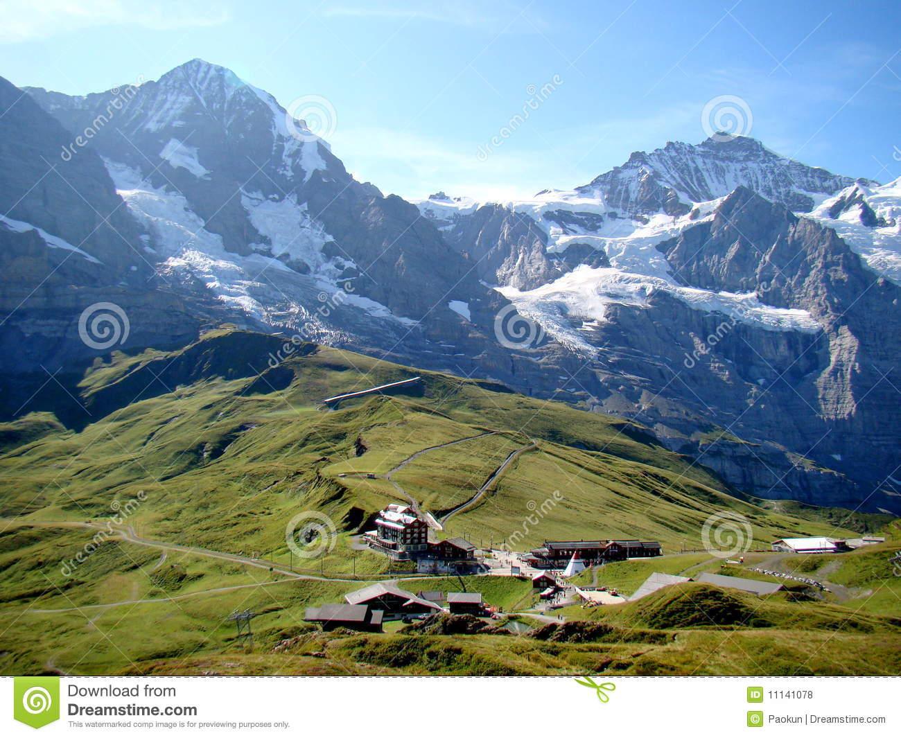 Kleine Scheidegg, Switzerland Royalty Free Stock Photos.