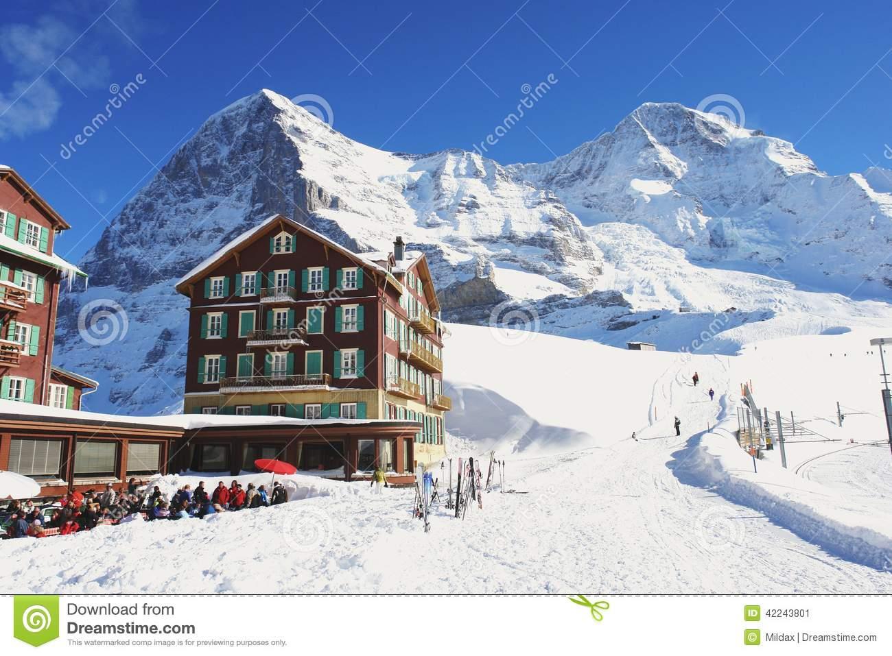 Kleine Scheidegg, Switzerland Stock Photo.