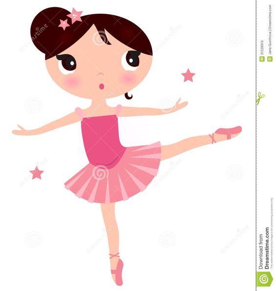 Printable Cute Ballerina Clip Art.
