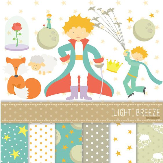 The Little Prince Clipart, Vector & Digital Scrapbooking Papers.