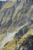 Picture of Austria, Kleinwalsertal, Group of people hiking on.