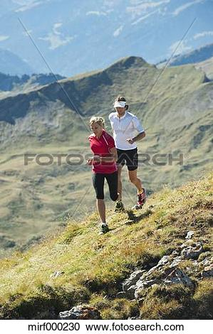 Stock Photography of Austria, Kleinwalsertal, Man and woman.
