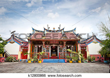 Stock Images of Klenteng Poncowinatan chinese temple in Yogyakarta.