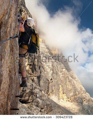 Klettersteigler clipart #13