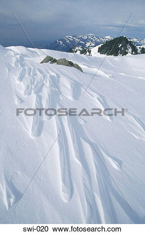 Stock Photography of Patterns in Snow Klewenalp Switzerland swi.