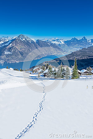 View To Grosser, Kleiner Mythen, Lake Luzern And Rigi From.
