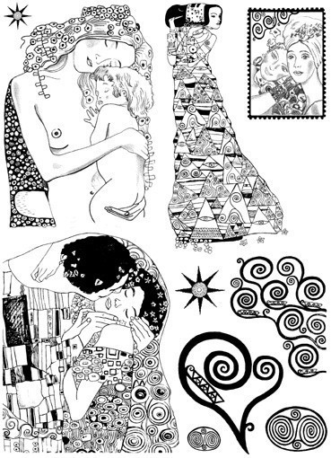 The Kiss Klimt Clipart.