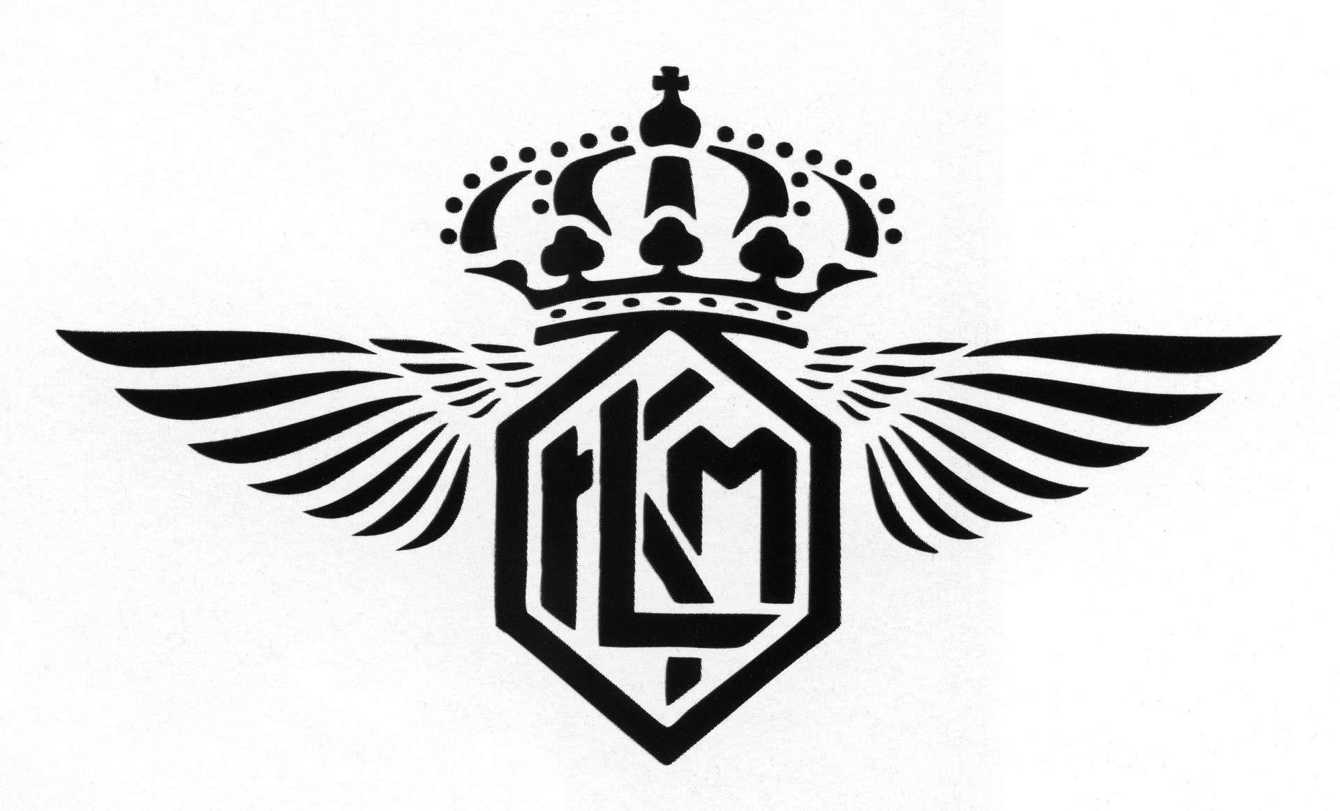 First KLM logo.