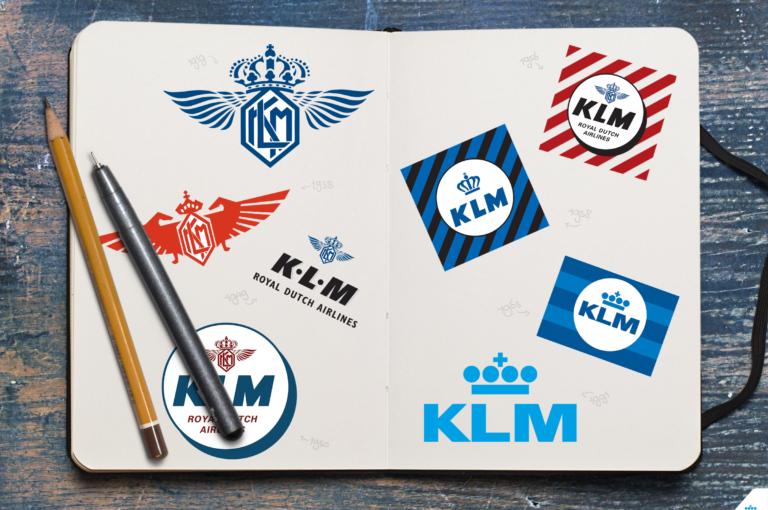 Logo love: the KLM logo through the years.