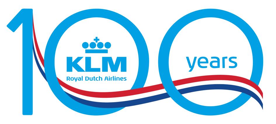 KLM 100 logo.