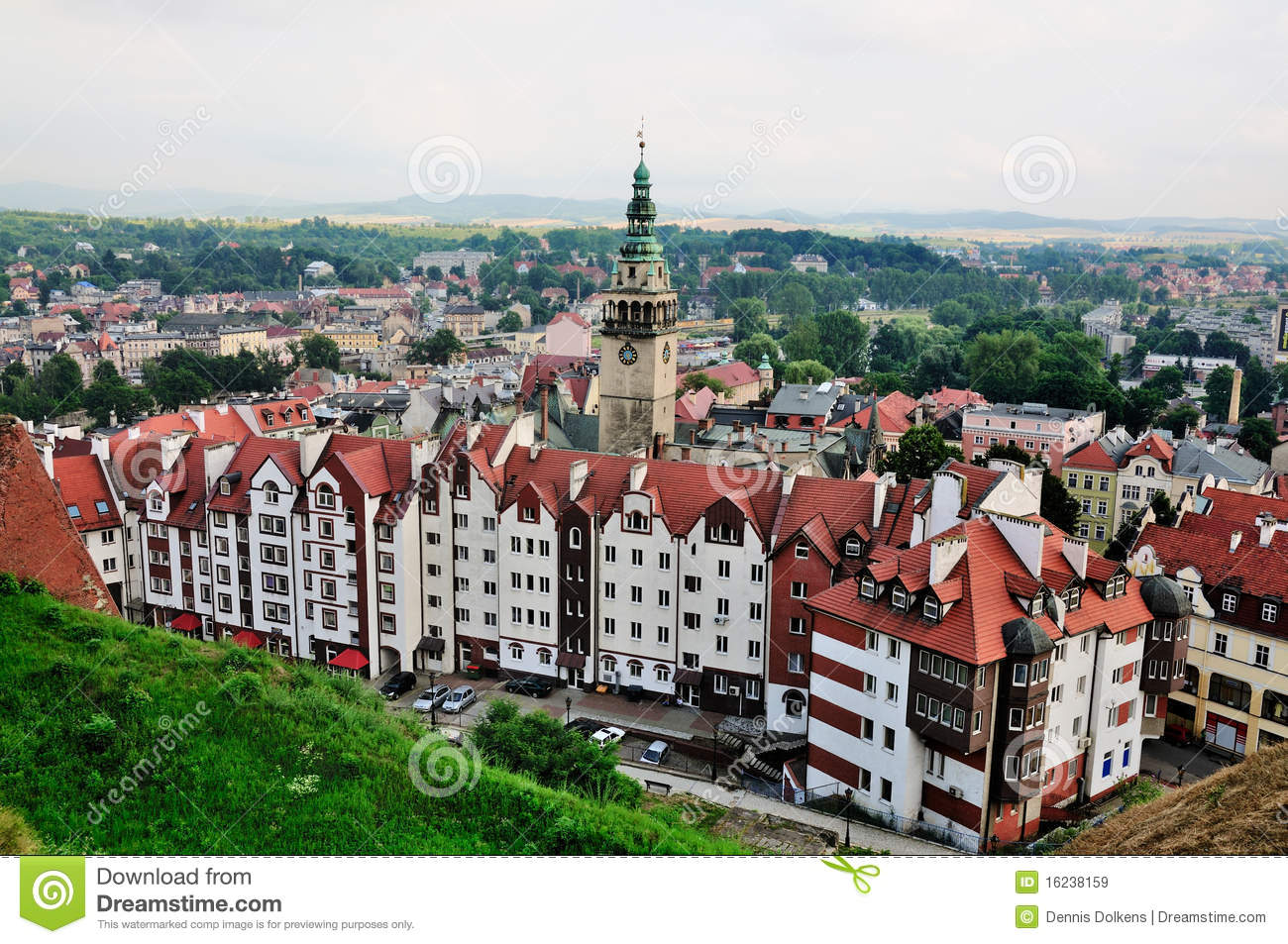 View On Klodzko From The Fortress Royalty Free Stock Images.