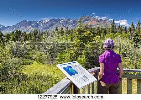 Stock Image of Tourist view scenery while at a Early Peoples.