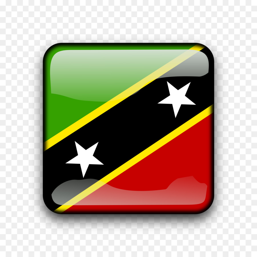 Flag of Saint Kitts and Nevis Vector graphics Illustration.