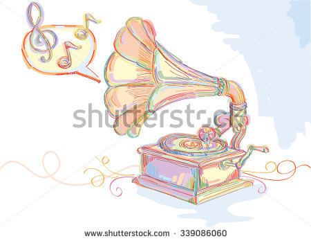 Old Gramophone Stock Photos, Royalty.