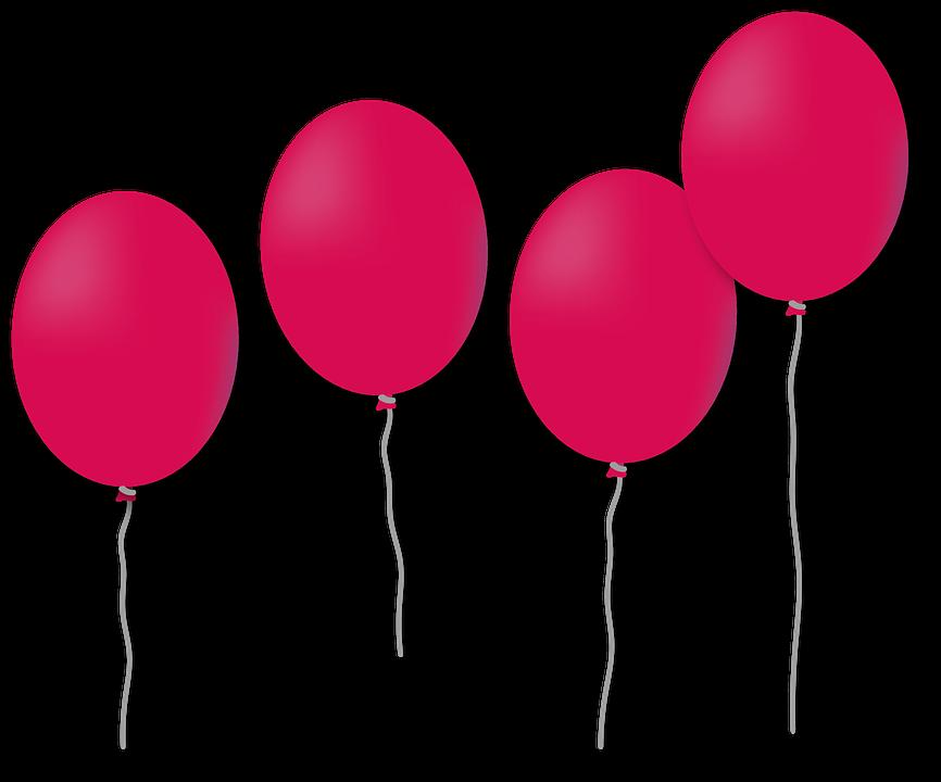 Free illustration: Balloon, Birthday, Bloat, Knallbunt.