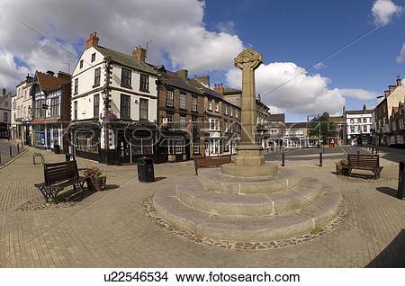 Stock Photo of England, North Yorkshire, Knaresborough, The old.
