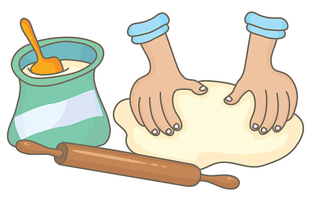 Best Kneading Dough Illustrations, Royalty.