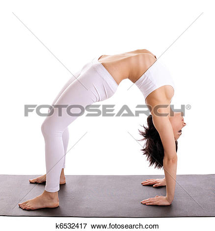 Picture of woman in yoga asana.