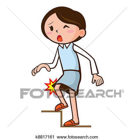 Knee pain Clip Art.