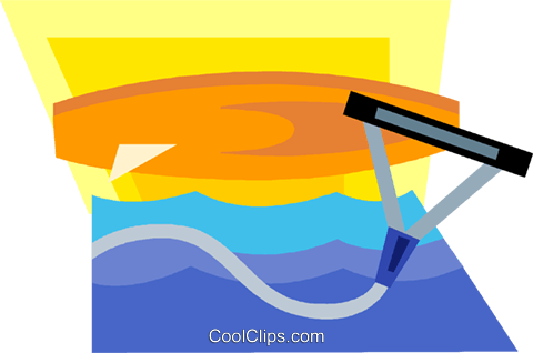 kneeboard Royalty Free Vector Clip Art illustration.