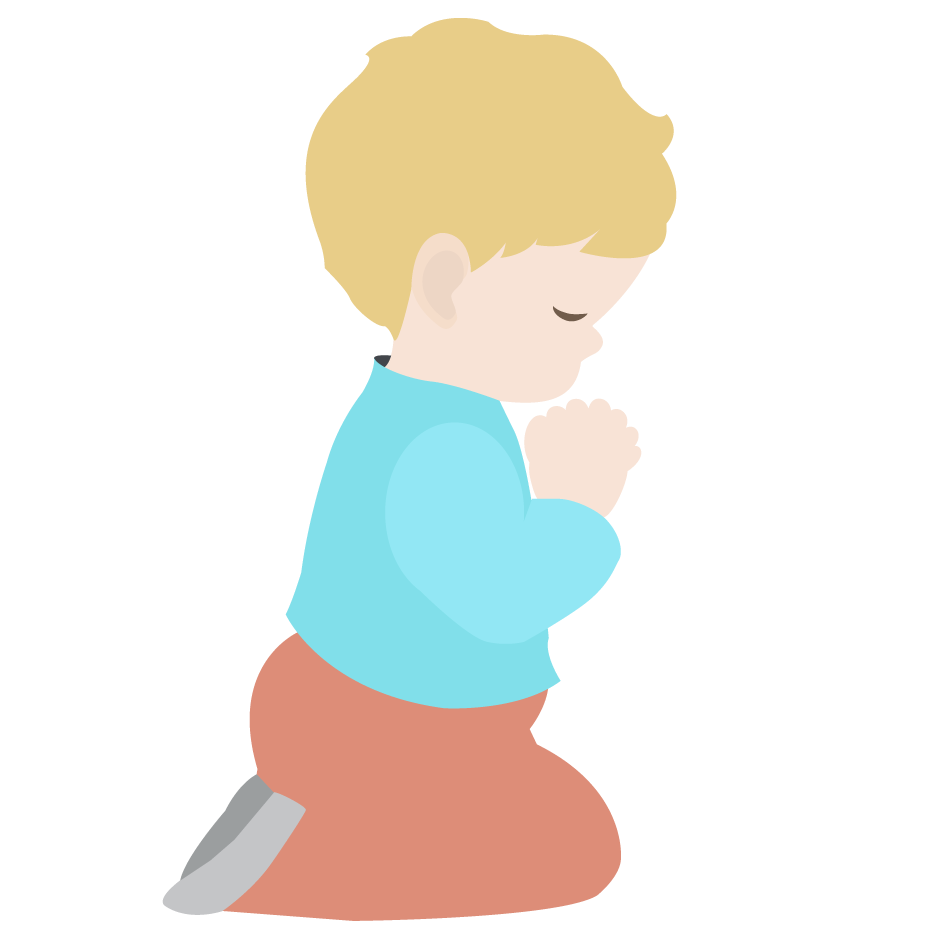 Kneeling In Prayer Clipart.