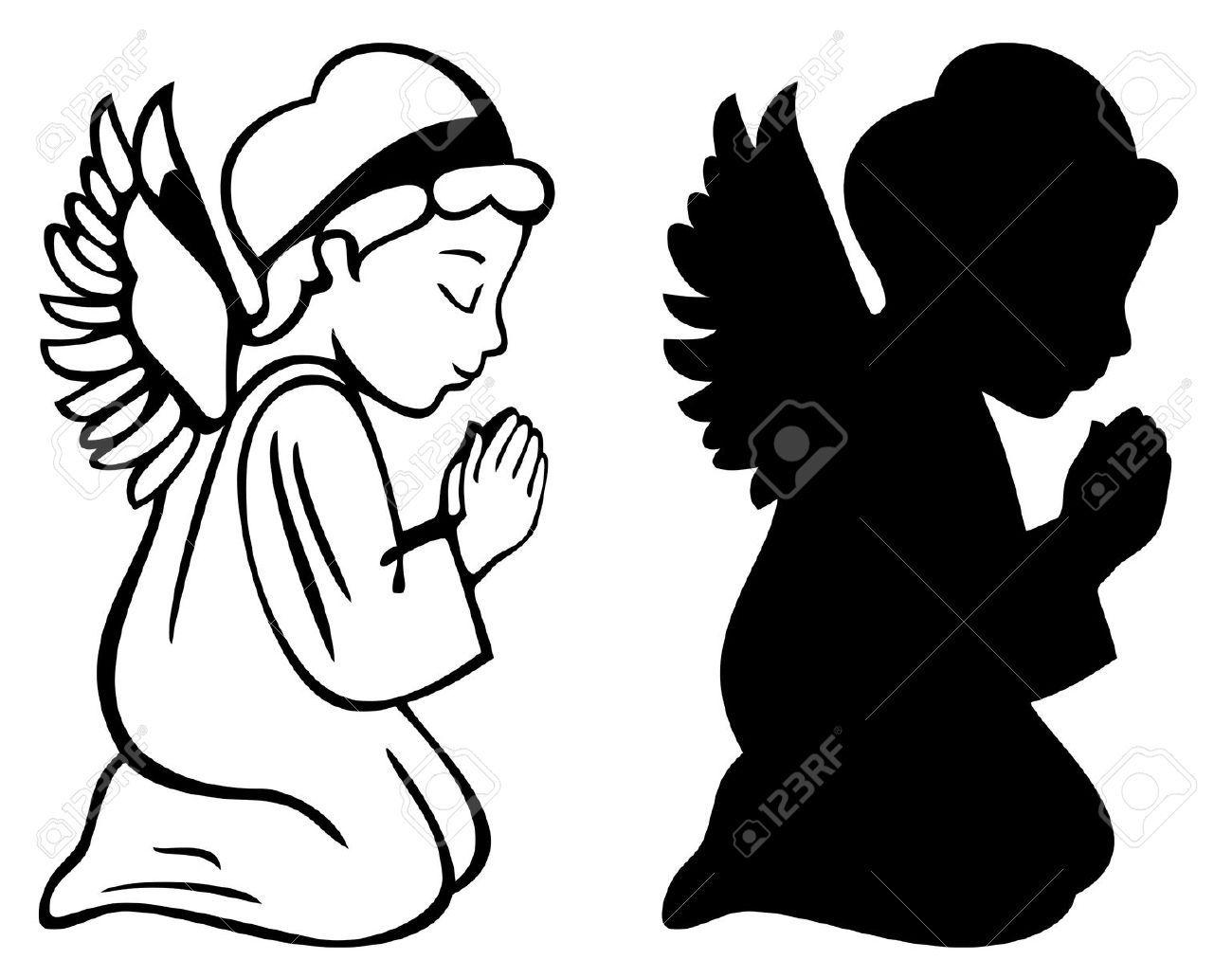 kneeling praying angel clip art.