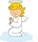 Kneeling angel clipart 1 » Clipart Station.