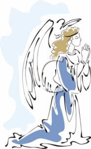 Kneeling angel clipart » Clipart Station.