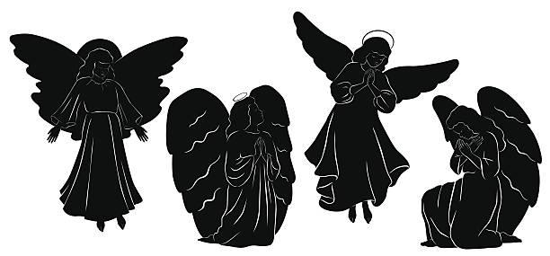 Best Kneeling Angel Illustrations, Royalty.